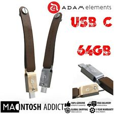 Adam Element USB-C & USB 3.1 Dual Flash Drive W Leather Strap | 130MB/S Transfer