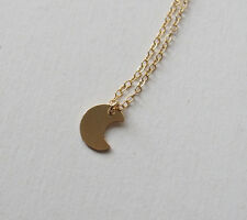 Tiny Moon 14K Gold Filled Pendant Necklace