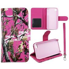 Real Pink Girlzzss Camo RT In Pnk Wallet Leather Apple Iphone 4 4s  Case Cover