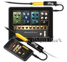 IK Multimedia iRig Guitar Adapter AmpliTube Plug Interface Adapter iPad iPhone