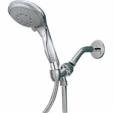 Rainfall Massage Shower Head with 5 Settings - Includes 6 Foot Extension Hose