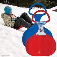 SNOW SCOOT SLED Winter durable Plastic Sno-Spoon Sledge disc Child BLUE/RED New
