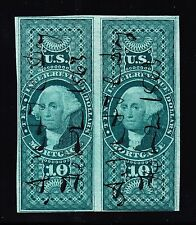 US R95a $10 Mortgage Used Pair SCARCE! F-VF appr SCV $2500