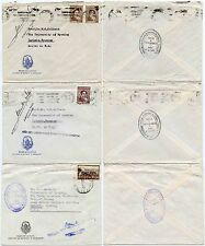 ARGENTINA LA PLATA BOTANICAL MUSEUM OFFICIAL 1950 3 COVERS to LARAMIE UNIVERSITY