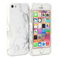 White Marble Pattern Hard Print Crystal Cover Case For iPhone 5 5S