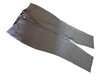 Damen Hose Gr 62 elastisch 107 cm lang Teilgummibund bedruckt schwarz-weiss 626