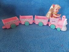 Barbie Doll * Kelly Doll * Pink Train with Engine & 4 Cars* Great for Diorama