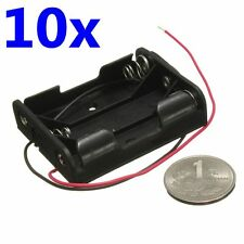 10 x AA UM-3 4.5V Battery Box Case Storage Clip In 3 Cell Holder With Wire Lead