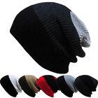 Women Men Warm Winter Baggy Beanie Knit Crochet Oversized Cap Unisex Slouch Hat