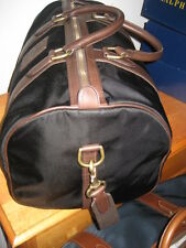 Polo Ralph Lauren Duffle Overnight Travel Gym Canvas Bag - BLACK