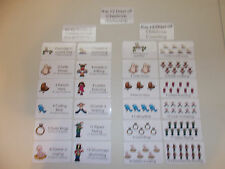 12 Days of Christmas Laminated Flashcards. Preschool Picture and Word flashcards