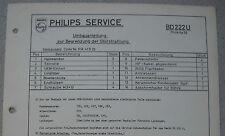 Philips BD222U Umbauanleitung zur Begrenzung der Störstrahlung Ausgabe 10/57