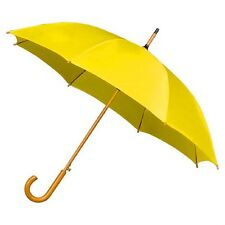 The Alrai Wood Hook Auto Walking Umbrella for Wedding and Events - Golden Yellow