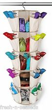 Closet Hanging Shoe Sweater Purse Storage Organizer Bed Room Dorm Space Saver