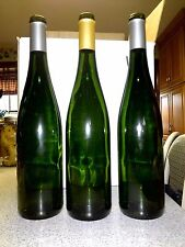 Lot of (12) empty WINE BOTTLES-Emerald Green--Riesling Style