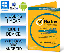Norton Internet Security 3.0 deluxe multi dispositif 3 utilisateurs 1 an antivirus 2016