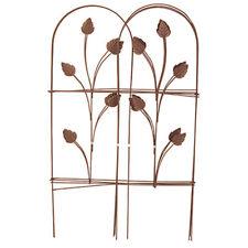 """Panacea 89363 Folding Garden Fence, Cameo Brown, 32"""" x 8'"""