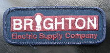 BRIGHTON ELECTRIC SUPPLY  EMBROIDERED SEW ON  PATCH COMPANY ADVERTISING UNIFORM