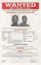 Wanted Notice - Momodu Kallay Jalloh/Unlawful Flight - Murder - FBI - 2004