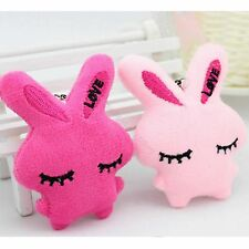 1 X Cell Phone Bag Charm Sleeping Rabbit Plush Doll Soft Toy Keychain Pendant