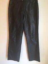 Verducci Women's Black Leather Lined Pants Size 4