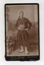 CDV - PHOTO ZOUAVE Algérie Philippeville Costume traditionnel Vers 1900 Jean