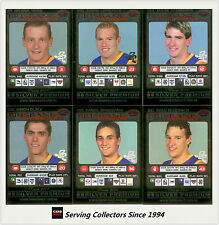 2001 Teamcoach Trading Cards Silver Prize Team set Brisbane (6)
