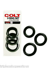 COLT COCKRING COCK RING SET 3 ANELLI LUI UOMO 40 45 50 mm GOMMA NATURALE