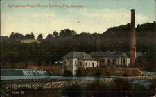London Ontario ON Springbank Power House c1910 Postcard