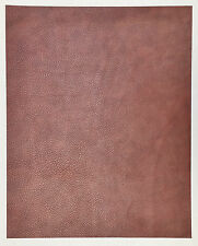 LEATHER PIECES OF COWHIDE 1 @ 50CM X 40CM DUSKY PINK SWIRL2.5MM THICK SOFT FEEL