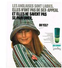 PUBLICITE  1972   YARDLEY   eau de toilette SEA SPRAY