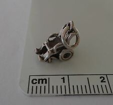 Sterling Silver 3D 10x10x7mm Small Wheelchair Charm