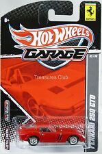 Hot Wheels Ferrari 250 GTO Garage Series #T8258 New in Pack 2010 Red 8+ 1:64