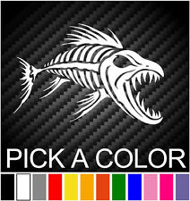 Skeleton Fish Bones #3 Vinyl Decal Sticker Kayak Fishing Car Truck Boat Tribal