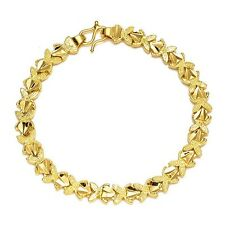"18K Yellow Gold Filled Womens Bracelet 7"" Chain unique Link Fashion Jewelry Hot"