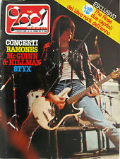 CIAO 2001 10 1980 Ramones Mike Rutherford Aerosmith Styx Gillespie Lee Clayton