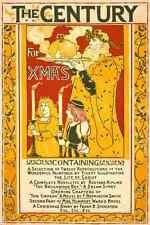 A4 photo rhead Louis 1858 1926 le siècle pour Noël 1895 imprimé Poster