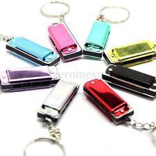 Novelty Mini Metal Harmonica 4 Hole Keyring Stocking Filler Musical Toy Keychain