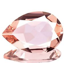 1.09 ct Natural Pear-cut Dazzling-luster AAA Pink IF Morganite (Brazil)