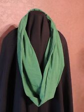 green cawl circle loop infinity scarf stretchy fashion cotton  soft small