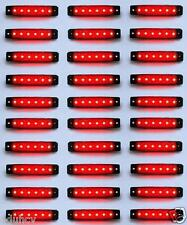 30 pcs RED 24V 6 LED Side Rear Marker Lights Lamp for Scania Volvo Daf Man Iveco