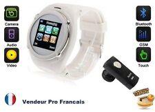 MontreTéléphone GPS Lecteur MP3 Caméra Video Appareil Photo MICRO SD Blanc Q998