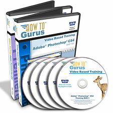 New Adobe Photoshop CS4 and Premiere Pro CS4 Tutorial Training on 5 DVDs 38 hrs