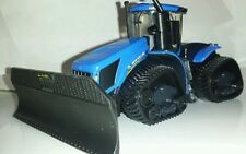 1/64 ERTL custom new Holland t9.700 quadtrac & grouser silage blade farm toy