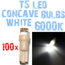 N° 100 Ampoules LED T5 Blanc 6000K Concave Phares Angel Eyes DEPO FK 12v 2A4A 2A