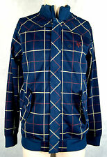 Zoo York Fairfield Zip Trainingsjacke Skateboarding Farbe Navy Check Größe L
