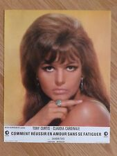 CLAUDIA CARDINALE 1967 French Lobby Card DON'T MAKE WAVES Sharon Tate T.CURTIS