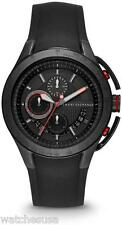 Armani Exchange Chronograph Black Dial Black Silicone Rubber Mens Watch AX1401