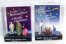 HO Preiser 29091 & 29092 CHRISTMAS NATIVITY SCENE SIX FIGURES Holy Family & Magi