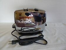 Vintage Sunbeam toaster heavy chrome with toaster cover excellent condition T35
